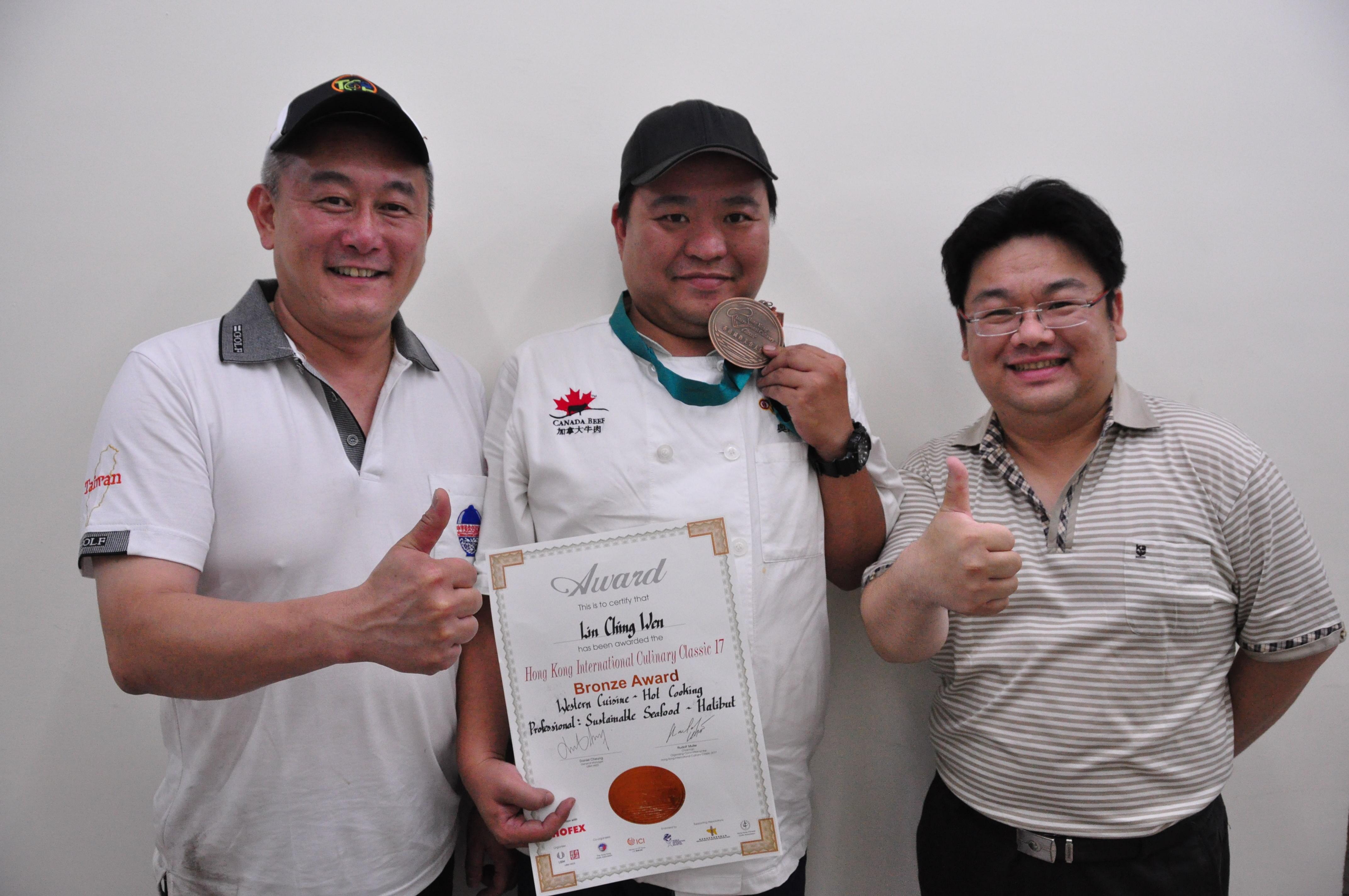 明道餐旅系學生獲香港國際美食賽海鮮類銅牌-明道大學