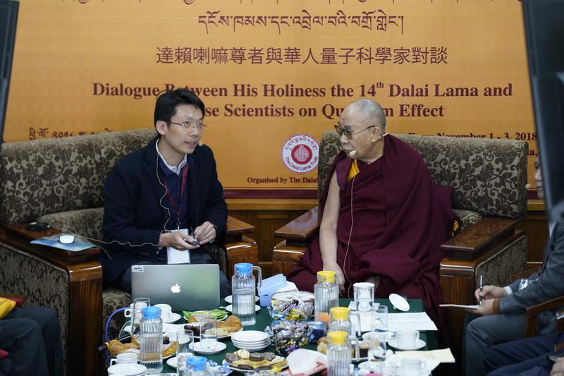 與達賴喇嘛對談量子科學 成大物理系特聘教授陳岳男印度行-成大