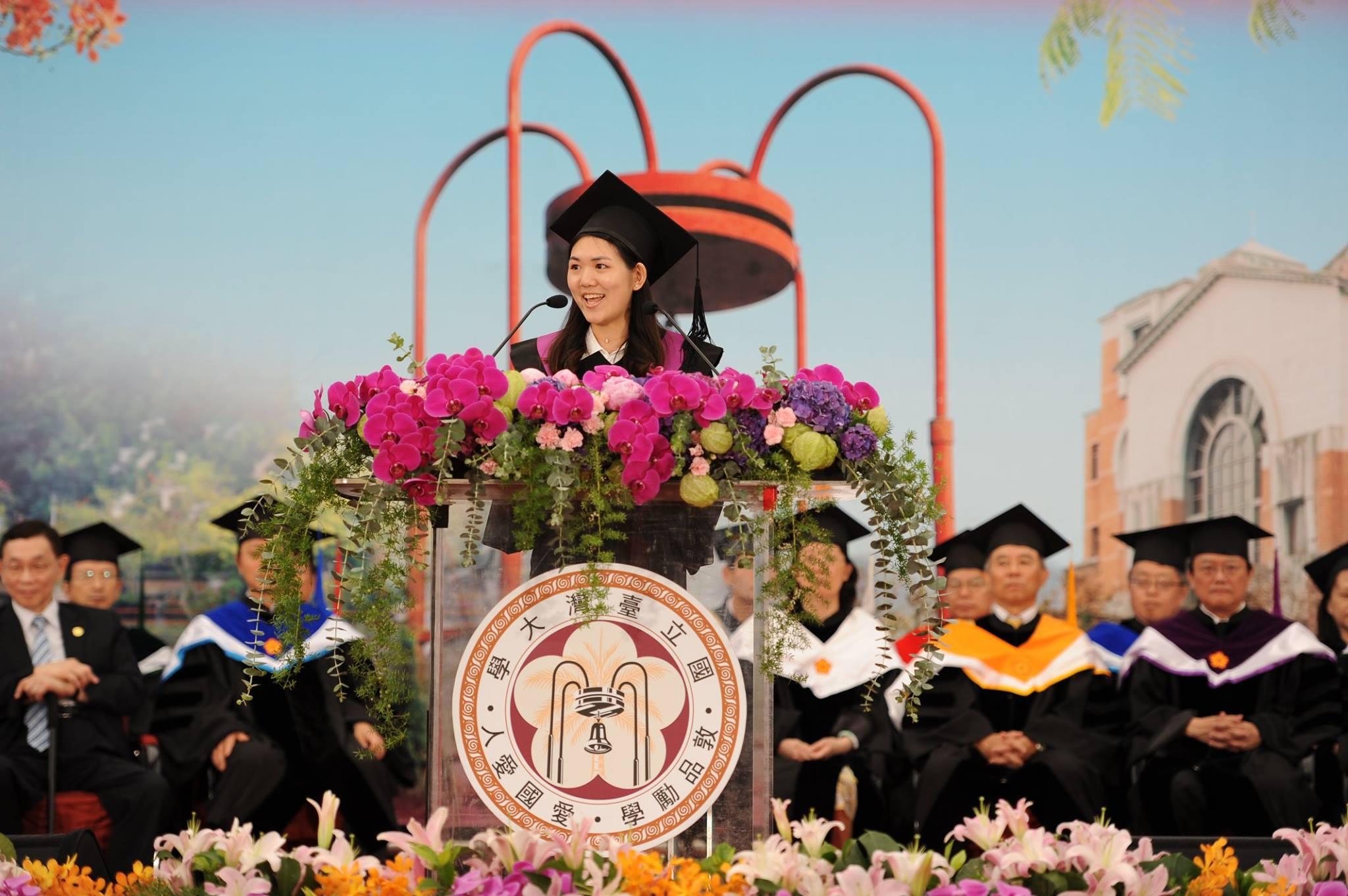 台大畢業生代表致詞 「我們都在尋找的道路上」-台大校友