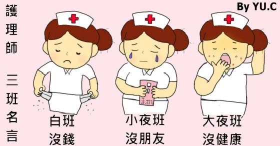 護理師秒懂的「三班」名言-三班制