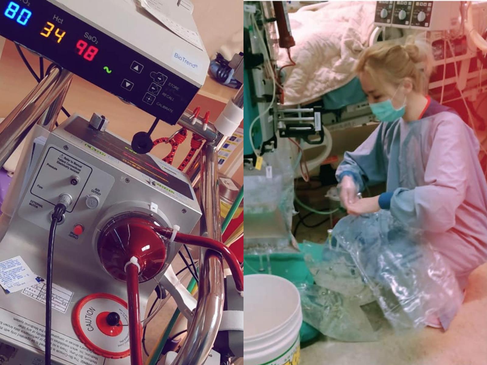 ICU搶命中!大媽狂吼:我爸要喝水,妳不就是顧機器抄表哪有那麼忙?護理師爆氣:尊重專業-ECMO葉克膜