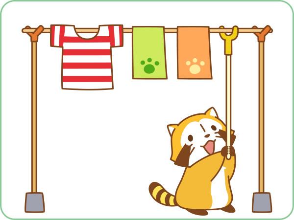说有多可爱就有多可爱,让小浣熊洗衣服,晾衣服全都包办.