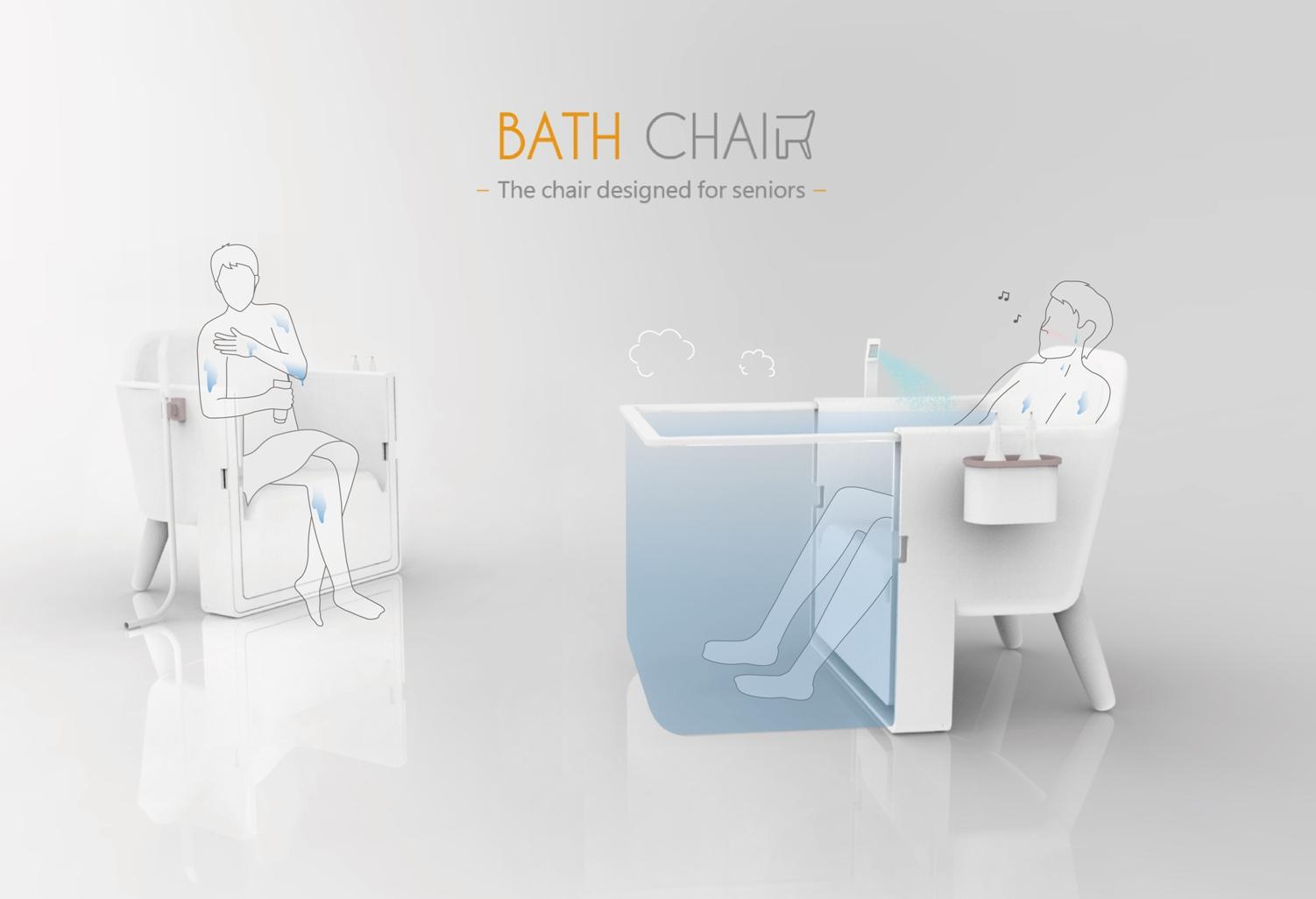 沐浴椅同時是浴缸  大葉大學工設系畢業生許姿屏、洪于涵 勇奪史丹福銀髮設計競賽全球大賽行動組第二名-大葉大學