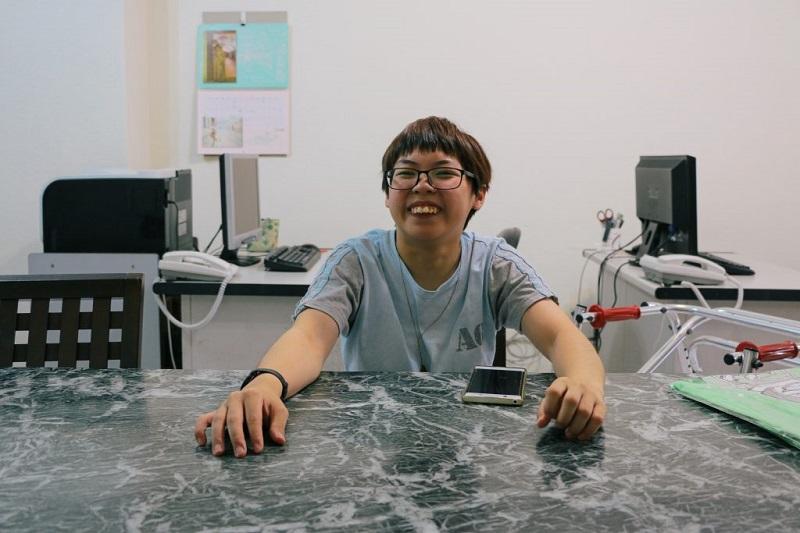 臺灣之光 首位國際論壇的腦麻患者-校友黃筱智專訪-人社系