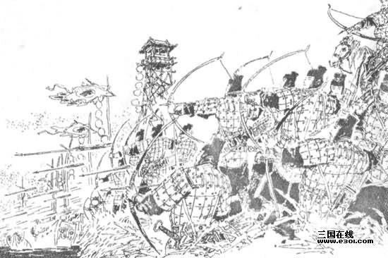 古代城楼手绘线稿