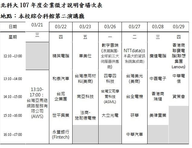 喜薪願就-2018國立臺北科技大學校園徵才博覽會-2018北科大校徵