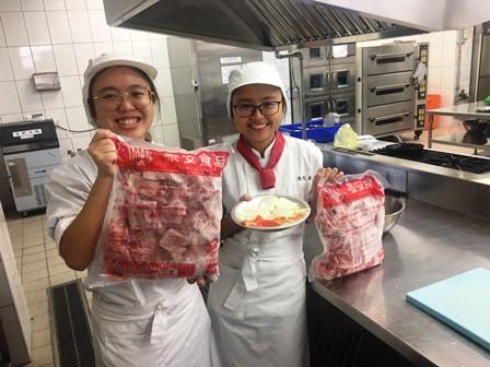元培醫事科技大學餐管系在實習課程中選用CAS優良肉品-CAS優良肉品