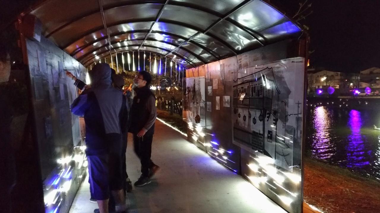 「拾光長廊」帶您穿越時空 成大科技藝術碩士學位學程學生再獲2020月津港燈節肯定-月津港