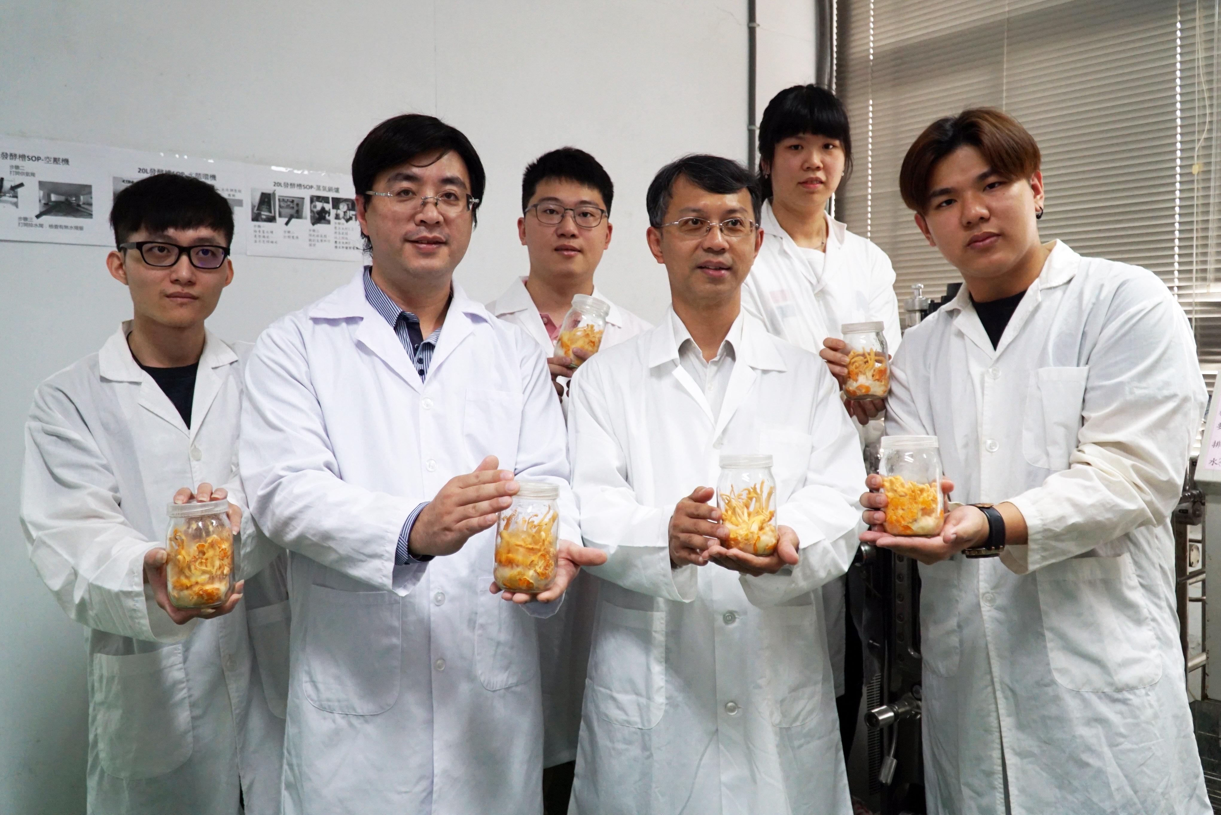 大葉大學與彰濱秀傳合作  證實蛹蟲草有助腸道好菌增加-大葉大學食品暨應用生物科技學系