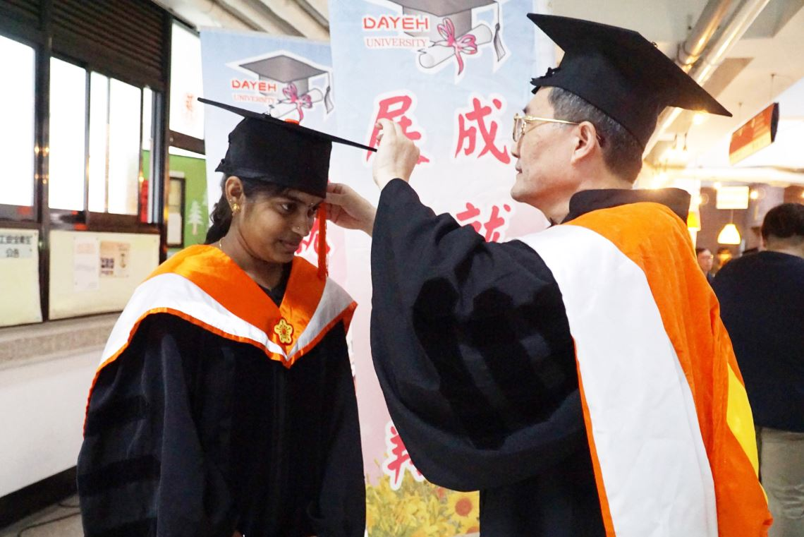 大葉大學印度博士生娜希米  獲教育部臺灣獎學金傑出表現獎-大葉大學環境工程學系博士班