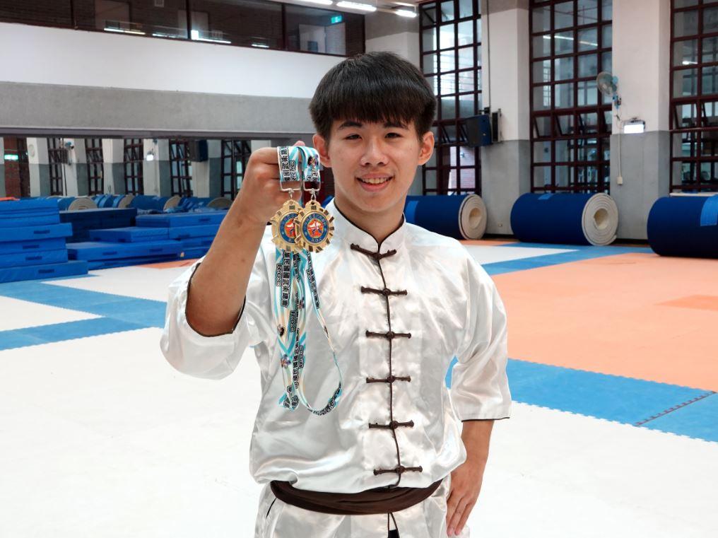 挑戰成為武林高手  中正大學楊宜勳全國國術聯賽摘雙金-武術運動