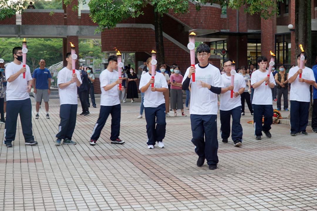 109年全國大專校院運動會聖火巡禮  28日下午傳至大葉大學-大葉大學