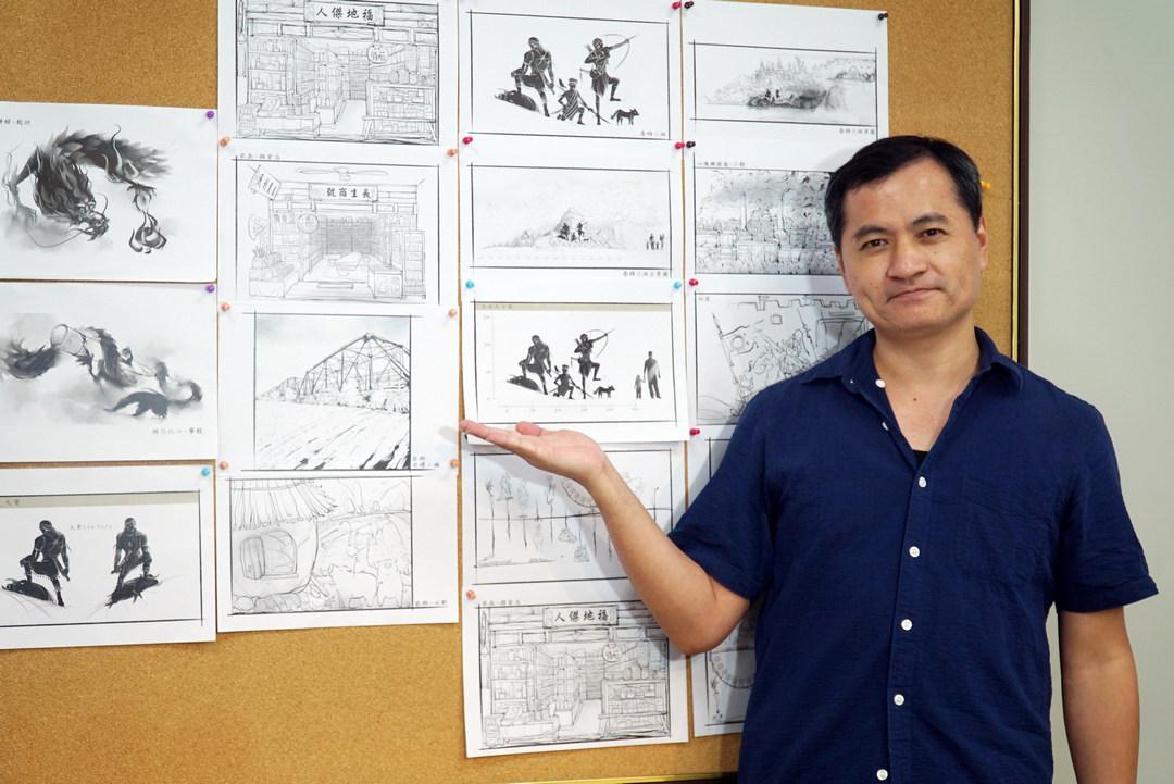 大葉大學多媒體學程黃懷德老師  擔綱李健竹十年展美術設計-大葉大學