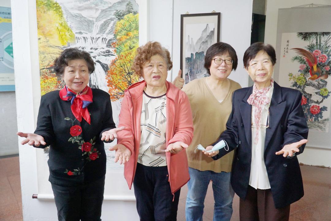 大葉大學長青大學繪畫班成果展  80歲學員活到老學到老-大葉大學