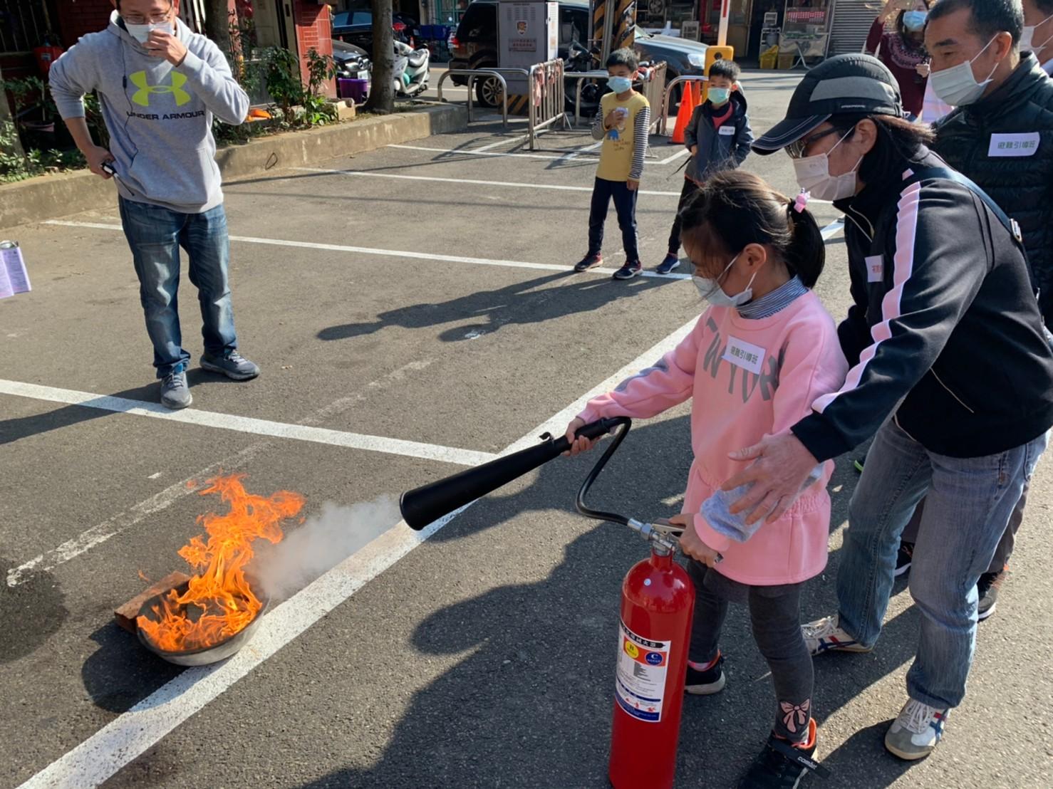 大葉大學消防學程協助新竹關西消防演練-大葉大學