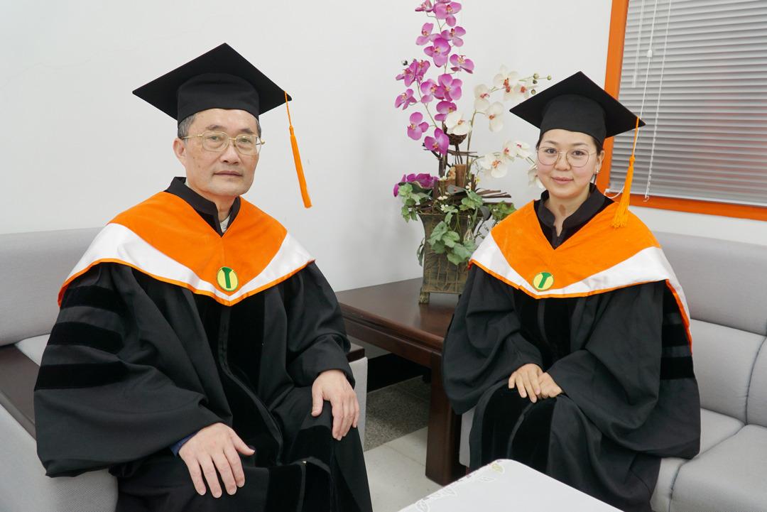 大葉大學蒙古學生莉娜  完成博士學位-大葉大學