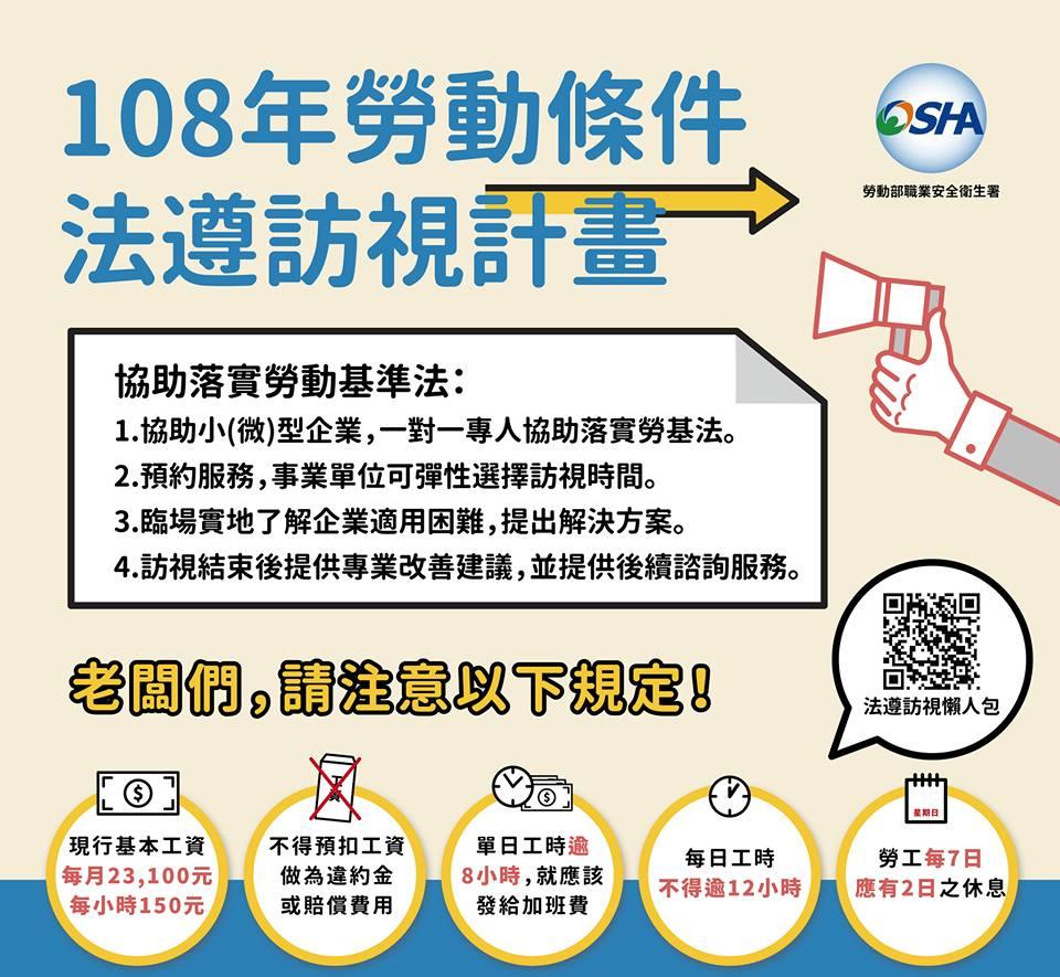 勞動部今(108)年度推出法遵訪視服務-HR