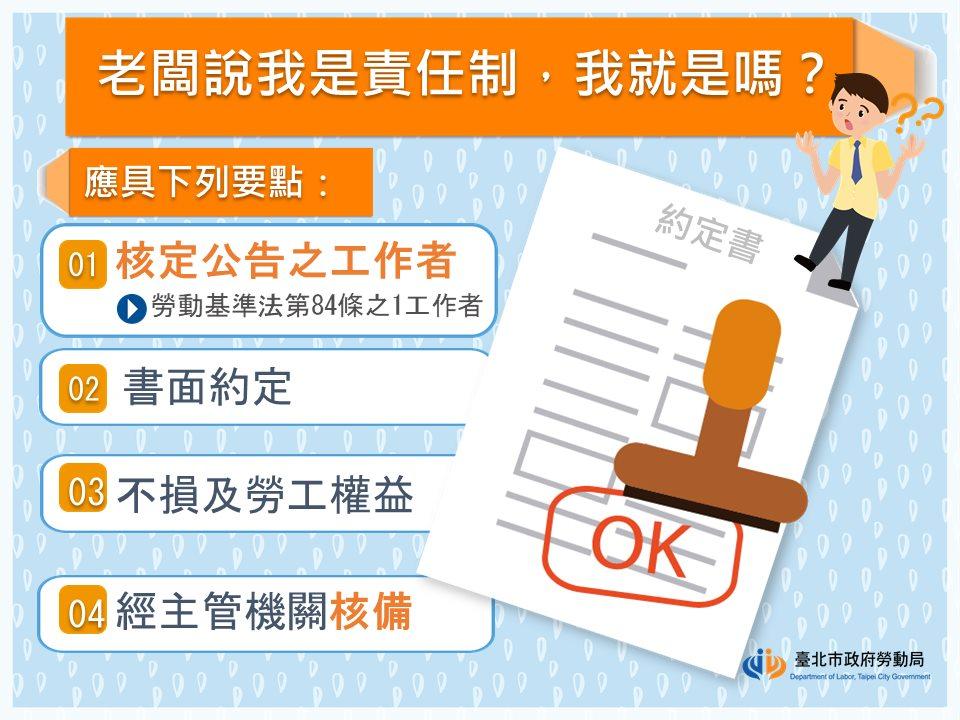 老闆說我是責任制(勞基法第84條之1),我就是嗎?|台北市政府勞動局-HR