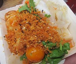 旗津美食推薦-泡菜蝦蛋