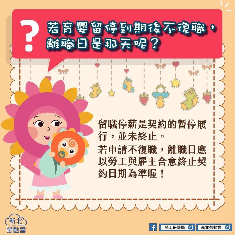 若育嬰留停到期後不復職,離職日是哪天呢?|新北勞動雲-HR